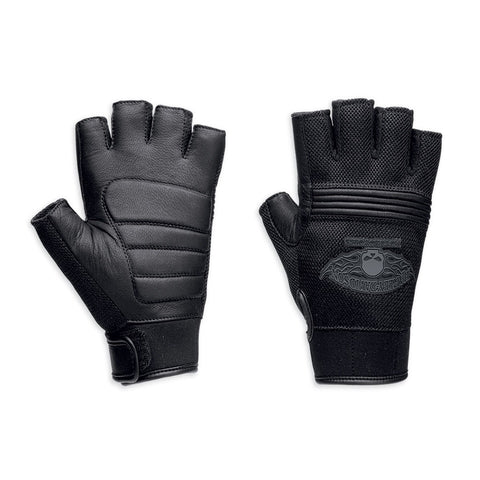 Harley-Davidson Winged Skull Men's Fingerless Gloves