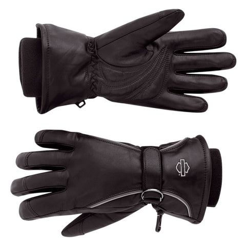 Harley-Davidson Windshield Women's Full-Finger Leather Gloves