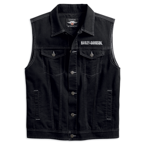 Harley-Davidson Upright Eagle Men's Denim Vest