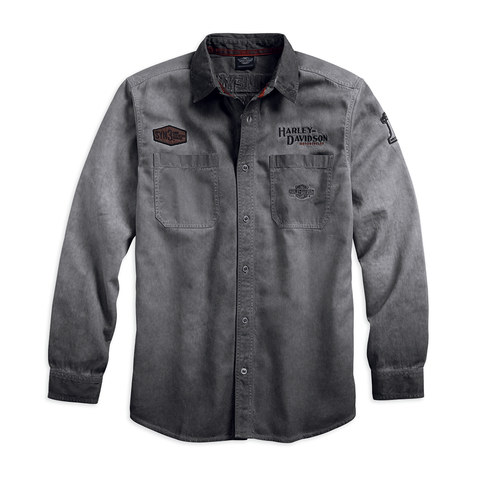 Harley-Davidson Iron Block Men's Long Sleeve Shirt
