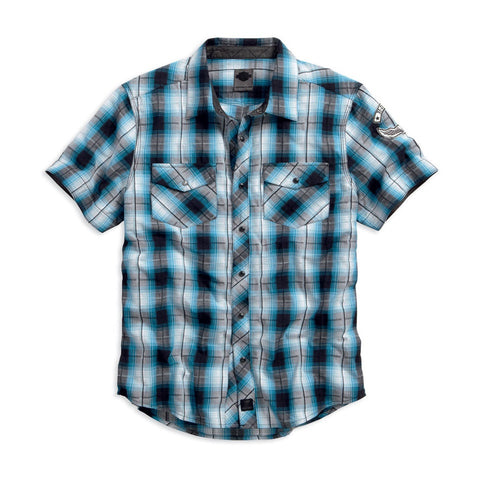 Harley-Davidson Snap-Front Plaid Men's Shirt