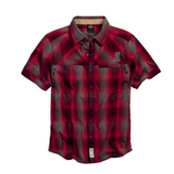 Harley-Davidson #1 Skull Plaid Men's Shirt