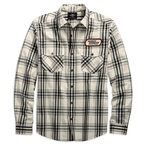 Harley-Davidson H-D Racing Plaid Men's Long Sleeve Shirt