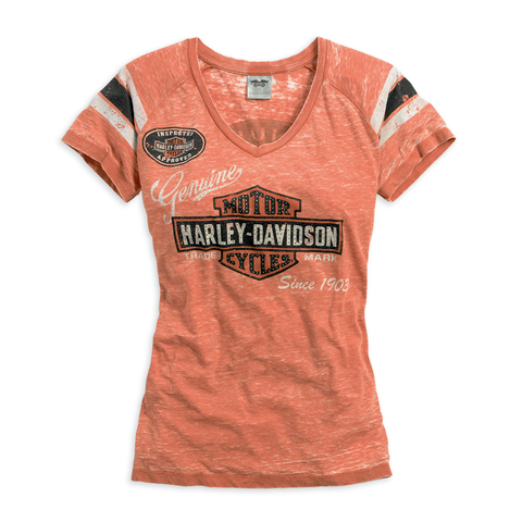 Harley-Davidson Genuine Oil Can Women's Burnout Tee