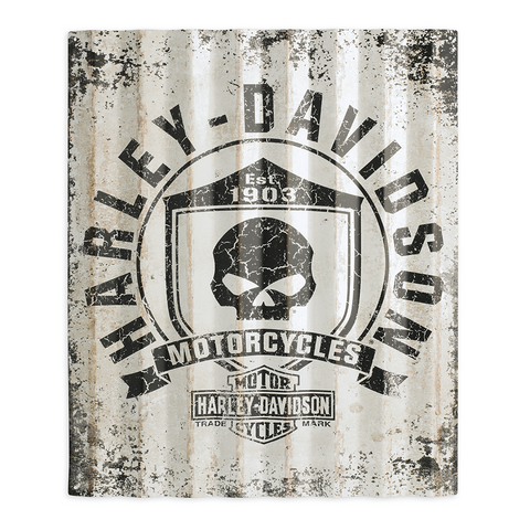 Harley-Davidson Skull Shield Corrugated Sign