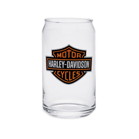 Harley-Davidson Bar & Shield Logo Soda Can Glass