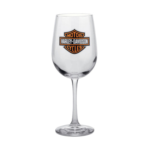 Harley-Davidson Bar & Shield Logo Wine Glass