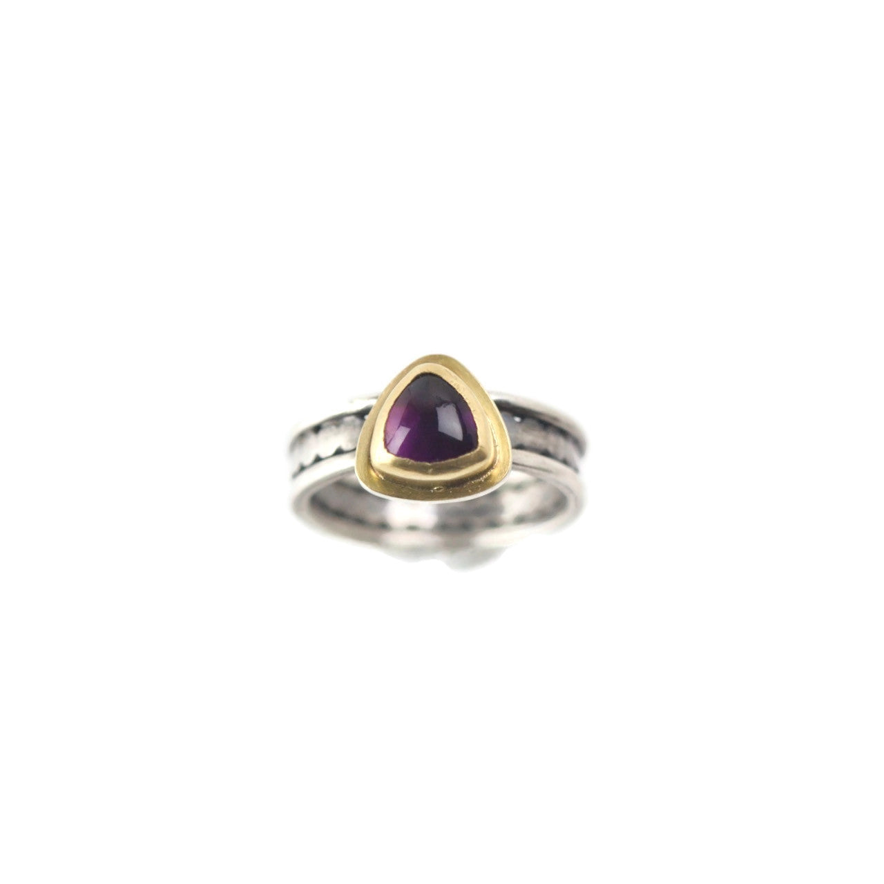 Amethyst Gold and Silver Ring