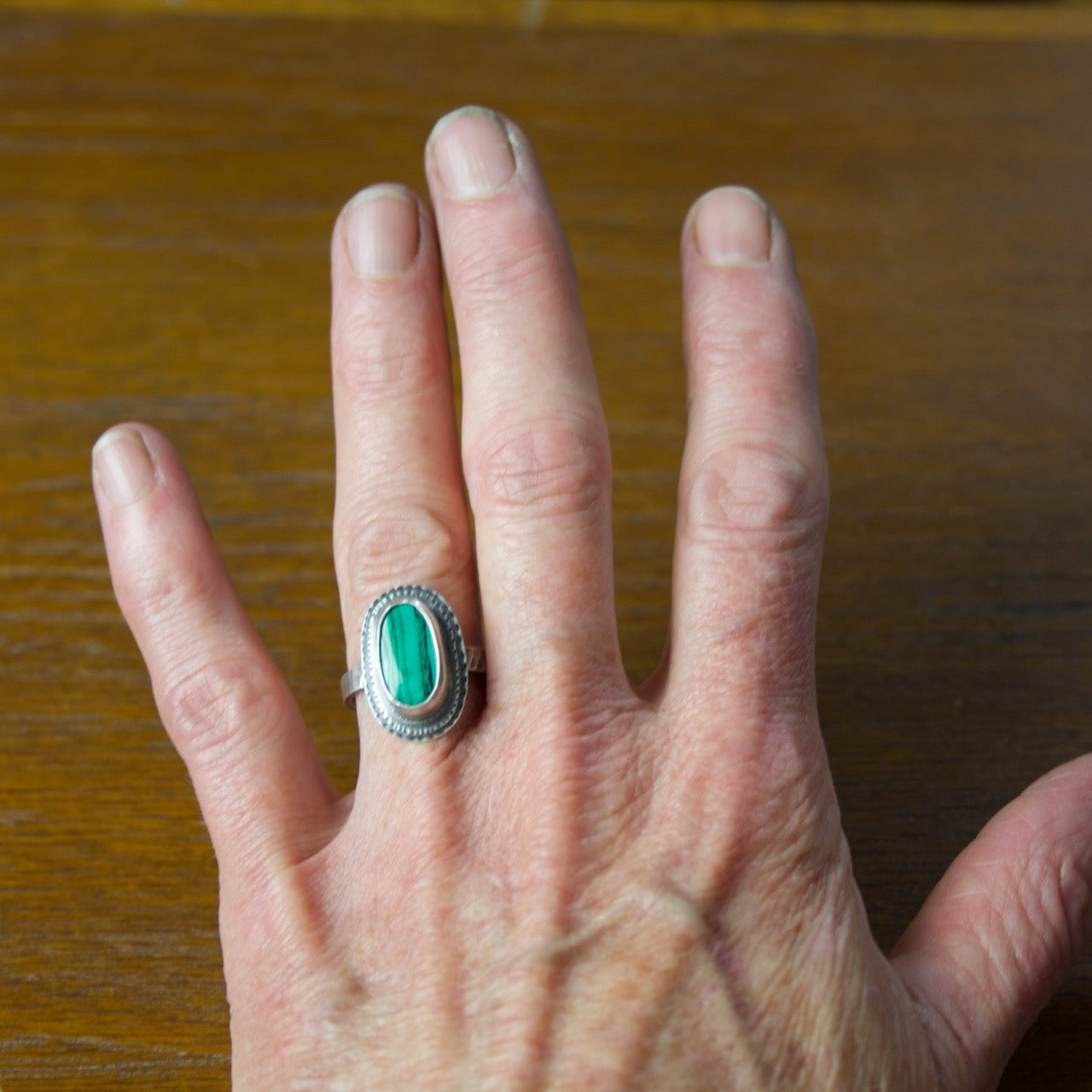 Azurite Malachite Ring