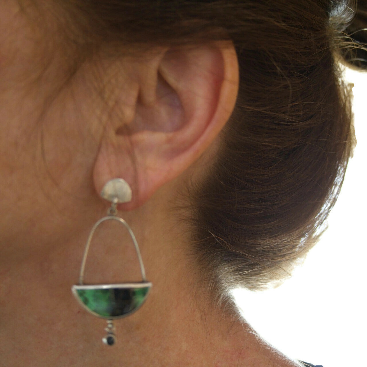 Green Garnet Post Earrings