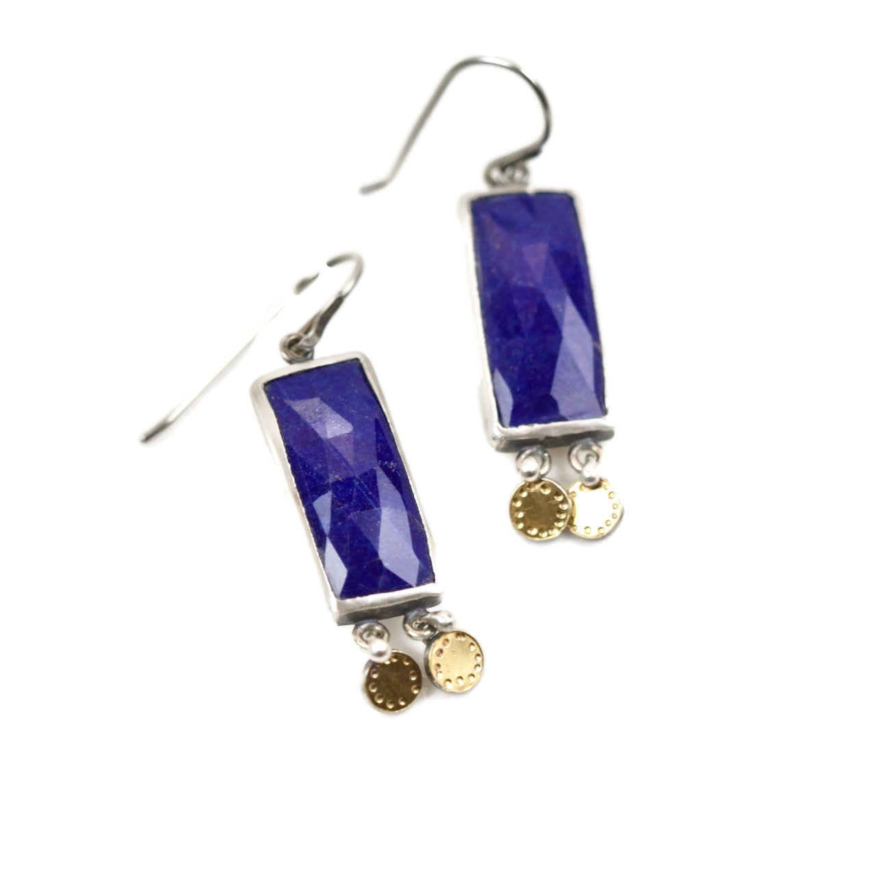 Lapis Rectangle Earrings