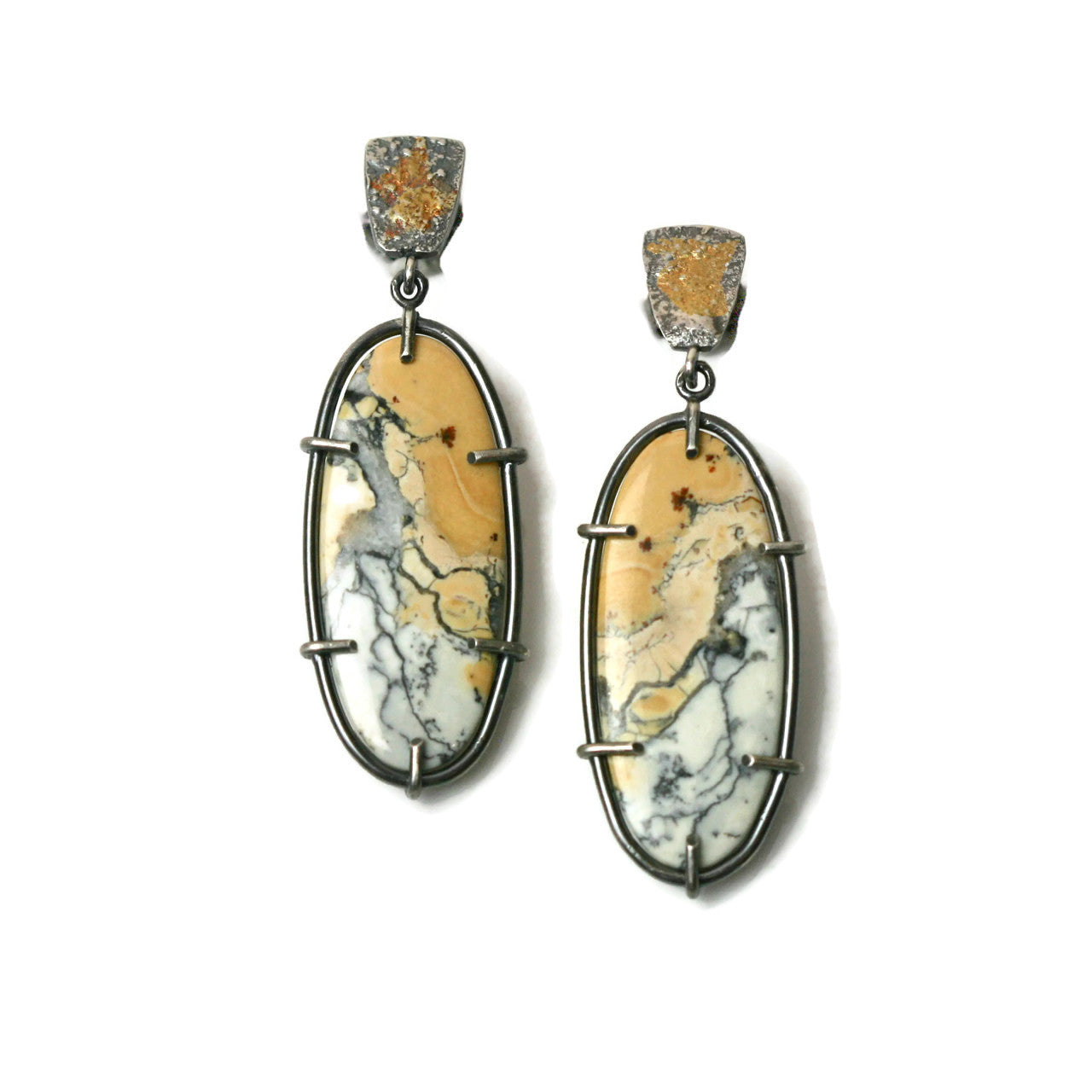 Maligano Jasper Post Earrings