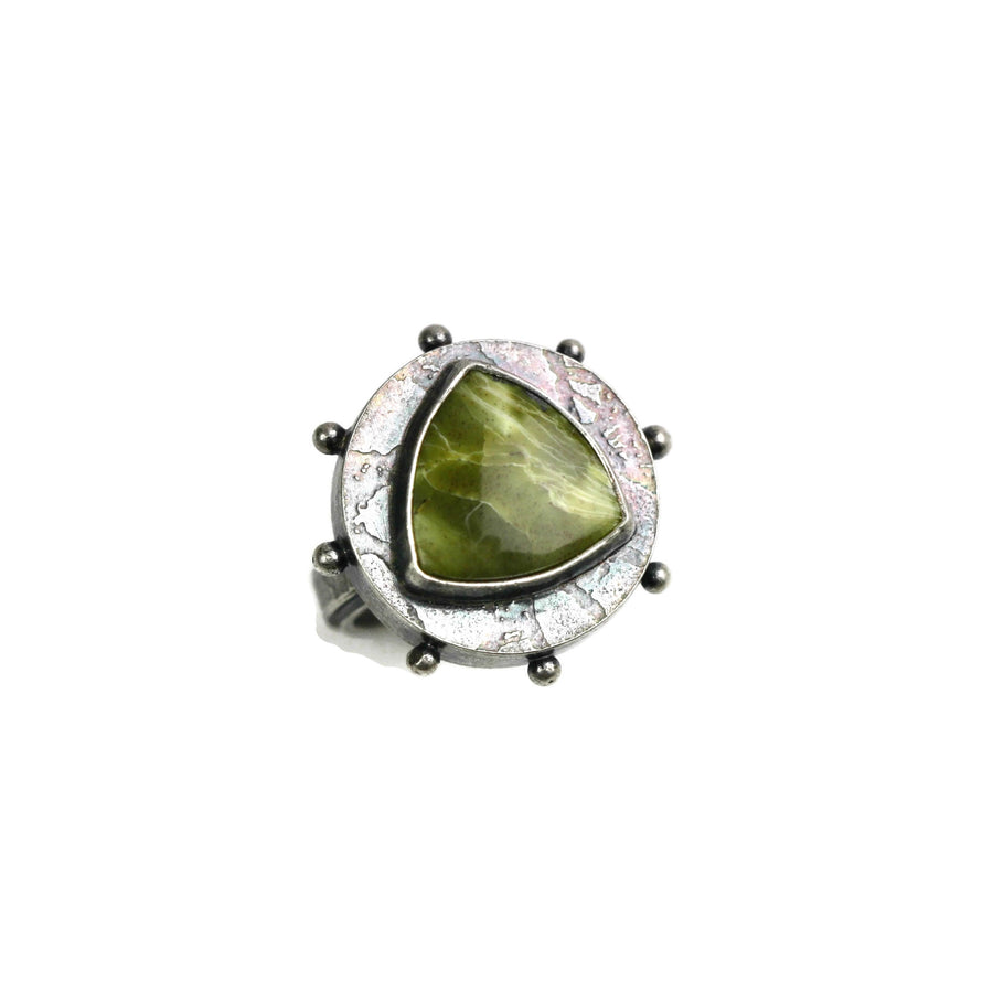 Serpentine Platform Ring