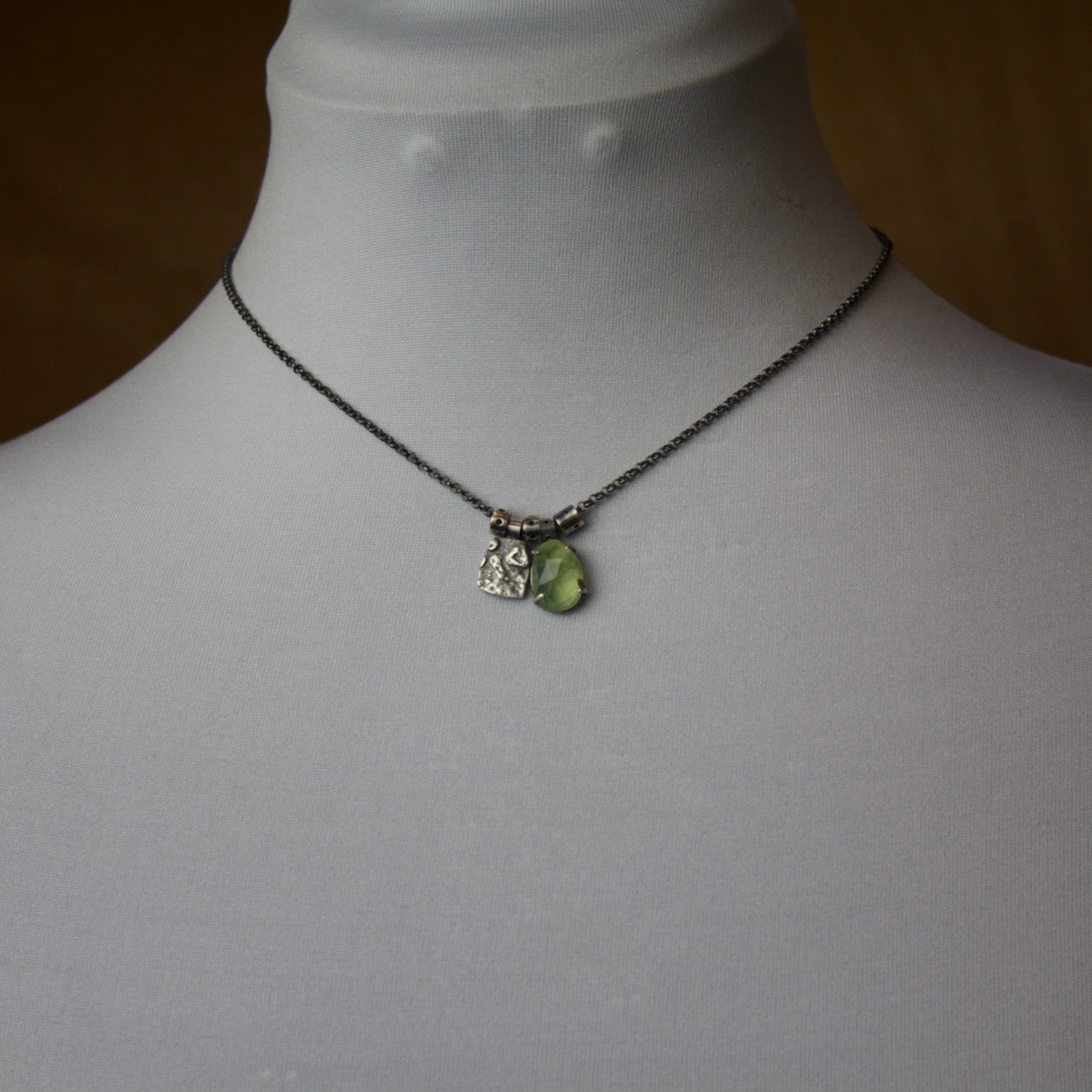 Prehnite Charm Necklace