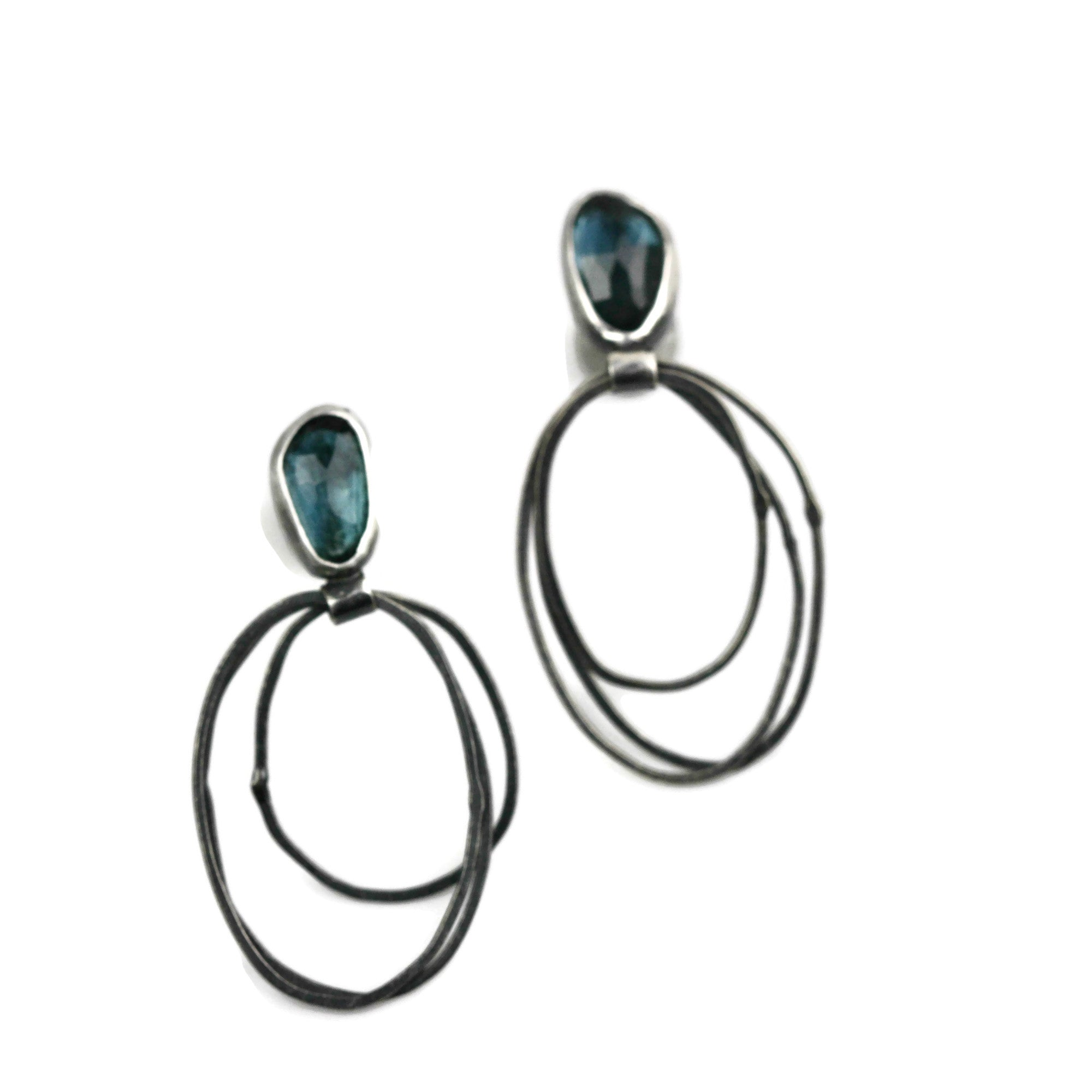 London Blue Topaz Hoops