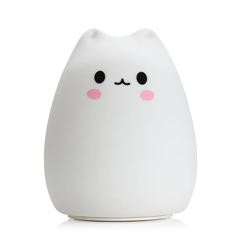 Image of Color Changing Kitty Night Light W/ Remote