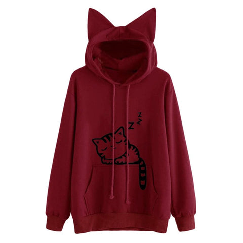 Image of Womens Hoodie W/ Cat Ears