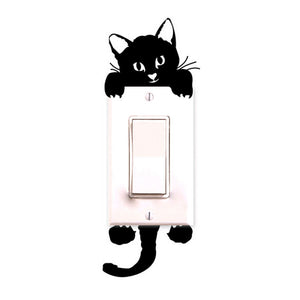 Kitty Cat Wall Stickers Light Switch Decor