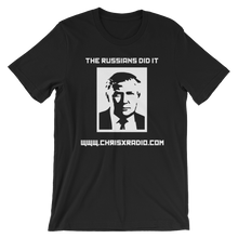 The Russians Did It - Black Unisex short sleeve t-shirt