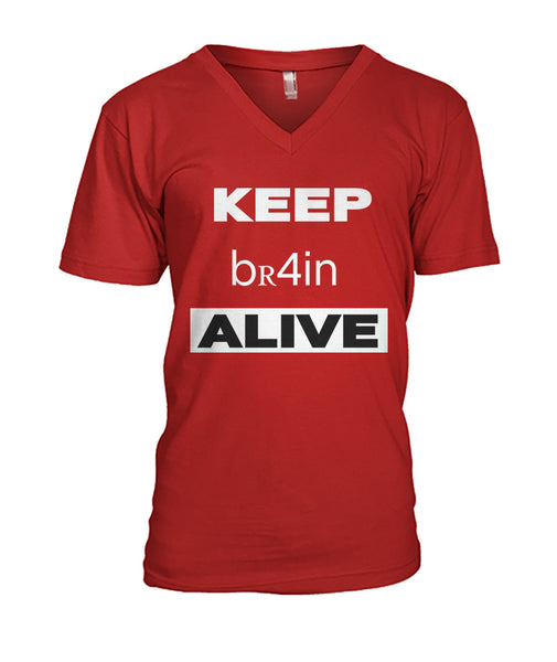 Keep Brain Alive Mens V-Neck