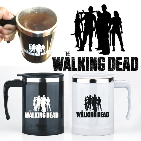 Walking Dead Self Stirring Stainless Steel Coffee Mug