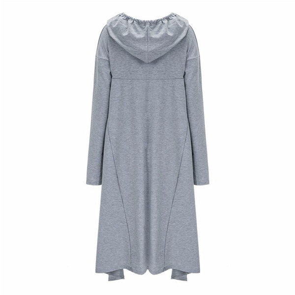 Women's Casual Loose Long Dress Hoodie