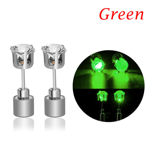 Led Blinking Earrings Studs for Men  and Women