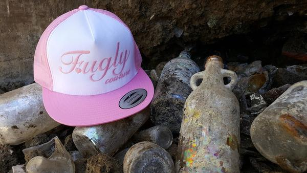 "Fugly 'Pink"" Couture Classic Trucker Snapback 5 Panel - Flat Bill"