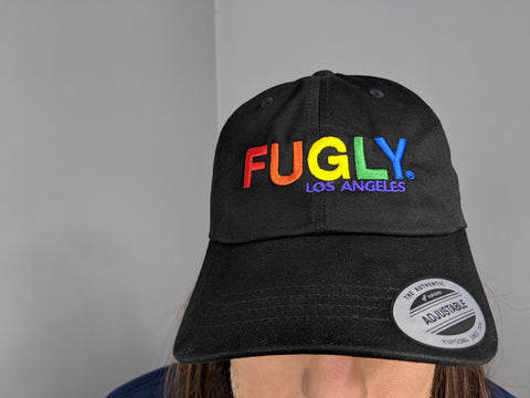 "FUGLY® ""We Stand With Pride"" Low Profile Dad Hat+Free Sticker"