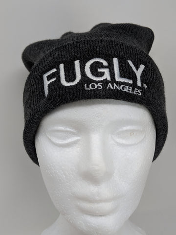 Dark Grey  FUGLY® Los Angeles Pom Beanie