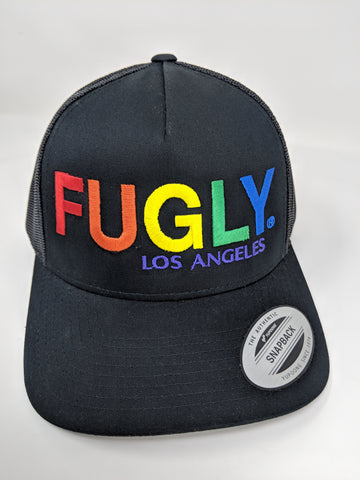 FUGLY® PRIDE 5-Panel Retro Trucker Charcoal or Black
