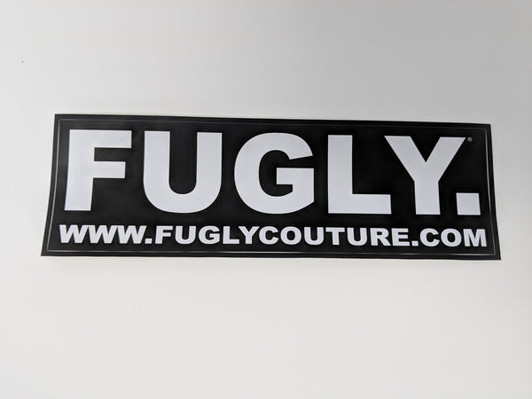 "FUGLY Couture Classic ""2005"" Vinyl Bumper Stickers"