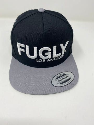 Silver & black 3D Fugly hat