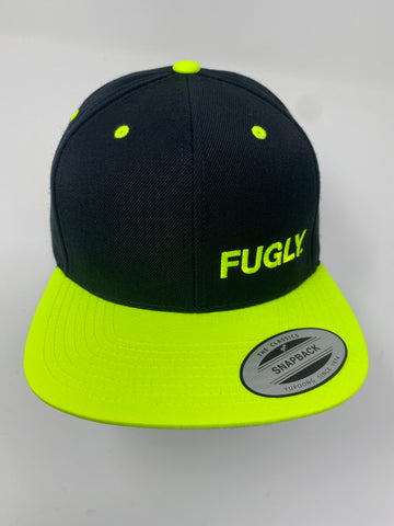 Fluorescent yellow Fugly® Embroidery Classic Wool snapback