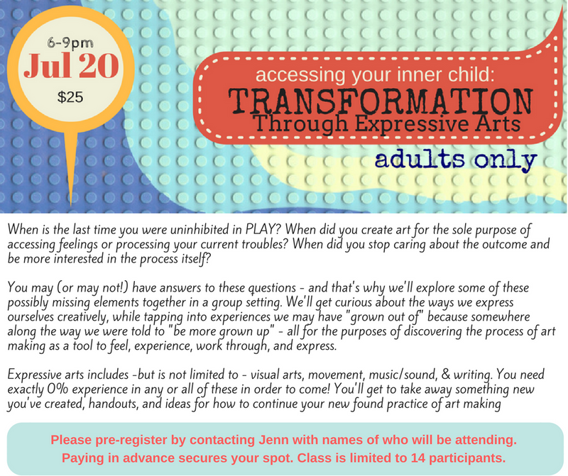 HARTLAND, NB - Accessing Your Inner Child: Transformation Through Expressive Arts (adults)