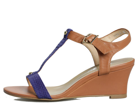 Carlie Wedge in Natural and Navy
