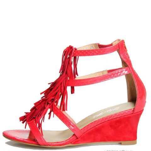Shaggy Wedge Red