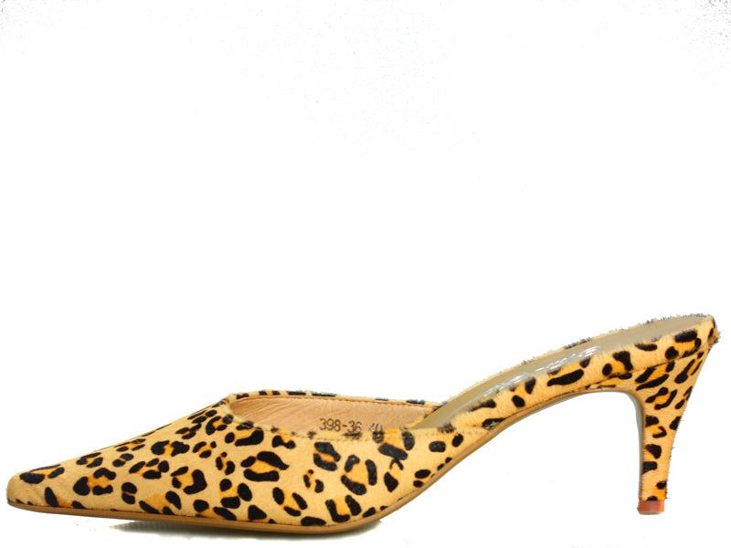 Blinky Kitten Heel in Leopard Fur