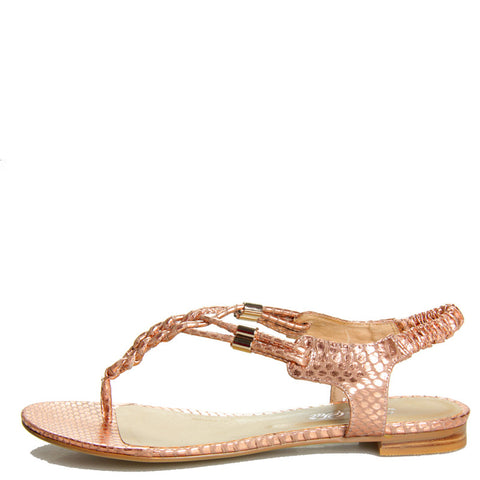 Braided Sandal Rose Gold Snake
