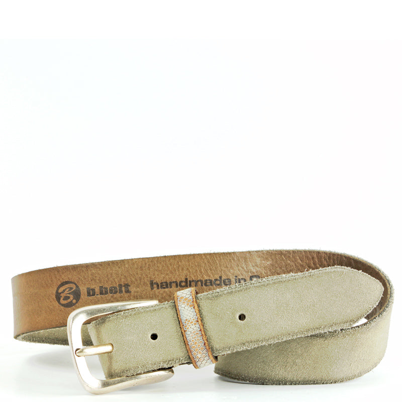 B-Belt in Khaki and Python-Medium