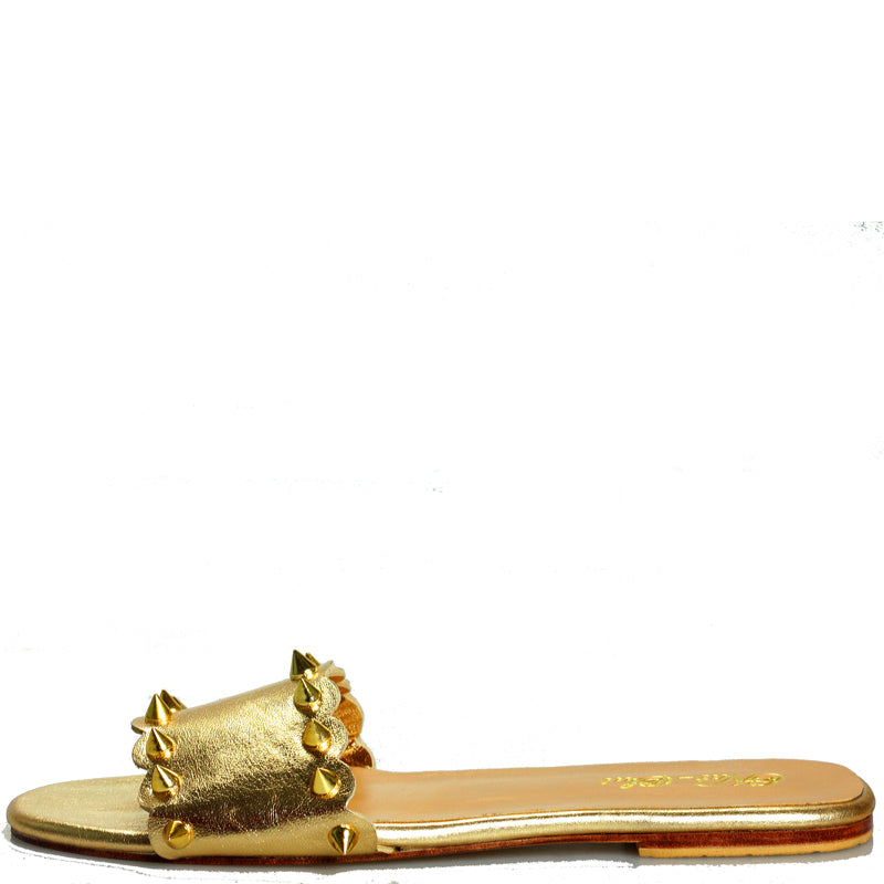 Jojo gold stud slide
