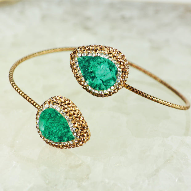Emerald Green Druzy Bangle
