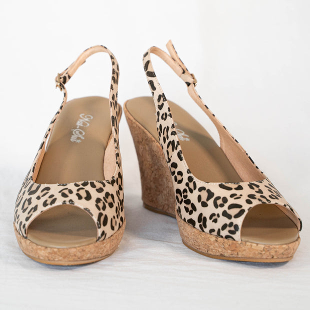 Leopard Leather Wedge