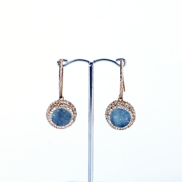 Druzy drop Agate earings