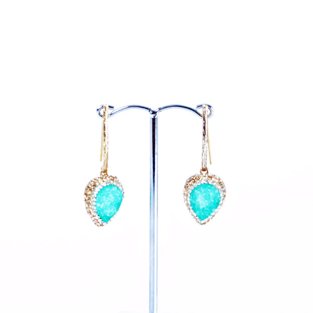 Druzy Agate drop earings