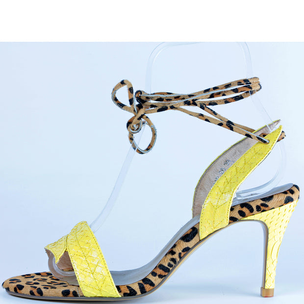 Leaf Heel in Chartreuse