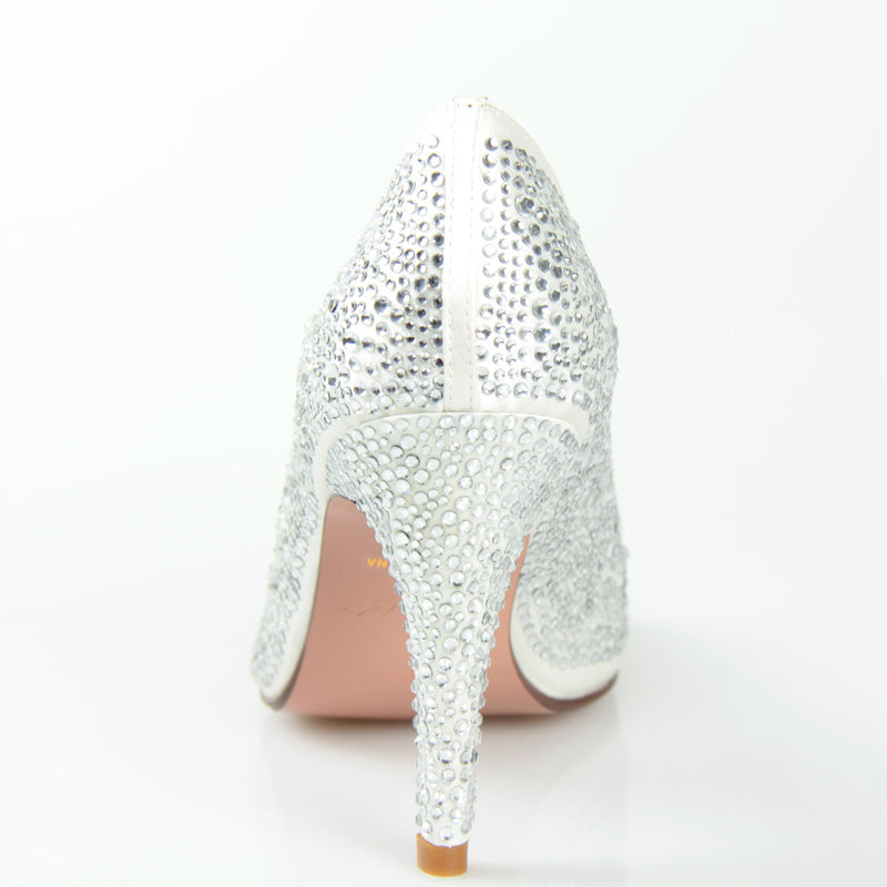 Bridal Galaxy Heel in Ivory with Swarovski Crystals