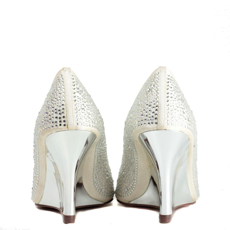 Bridal Galaxy Wedge in Ivory with Swarovski Crystal