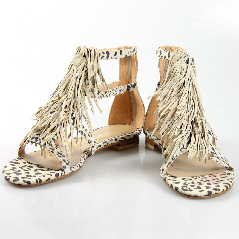 Shaggy Flat Leopard Suede
