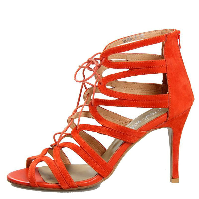 Stella Orange Cage Heel